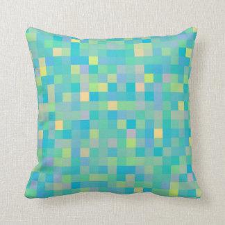 Almofada Teste padrão de mosaico multicolorido alegre na