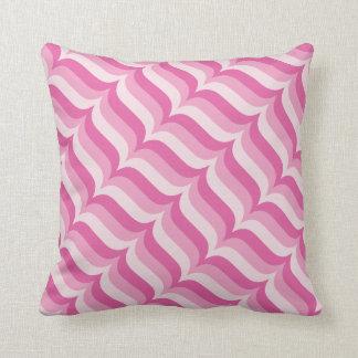 Almofada Teste padrão diagonal das listras do rosa Pastel