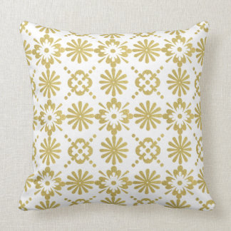 Almofada Teste padrão dourado do Victorian