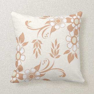 Almofada Teste padrão floral bege