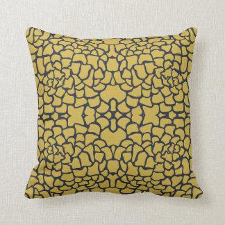 Almofada Teste padrão floral do amarelo e dos azuis