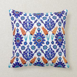 Almofada Teste padrão floral do azulejo de Azulejo do