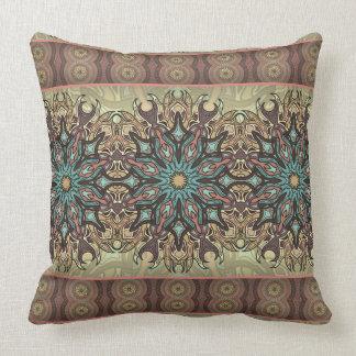 Almofada Teste padrão floral étnico abstrato colorido da