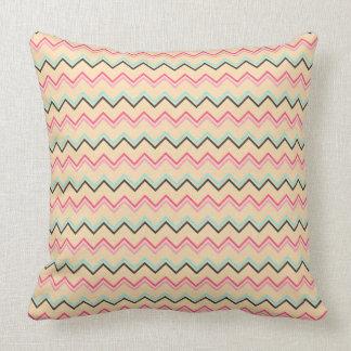 Almofada Teste padrão geométrico cor-de-rosa e azul de