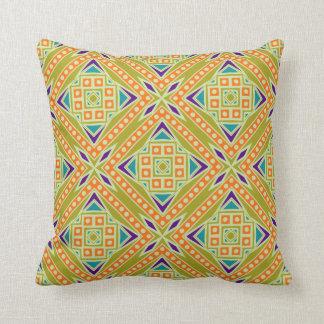 Almofada Teste padrão geométrico tribal asteca moderno