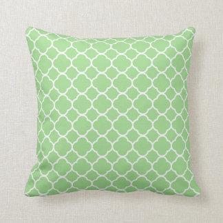 Almofada Teste padrão geométrico verde
