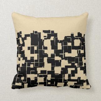 Almofada Teste padrão moderno na moda - preto/Tan