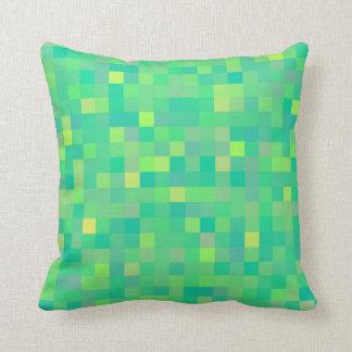 Almofada Teste padrão multicolorido verde na moda à moda do