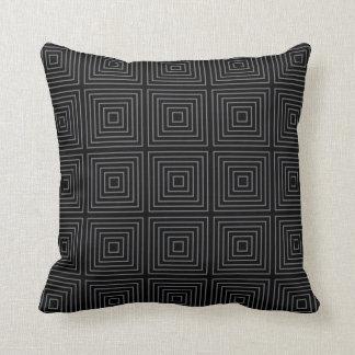 Almofada Teste padrão quadrado geométrico