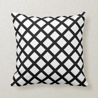 Almofada Teste padrão simples preto e branco