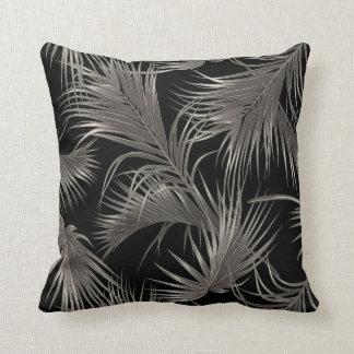 Almofada Teste padrão tropical chique das frondas da palma