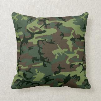 Almofada Teste padrão verde de Camo Brown da camuflagem