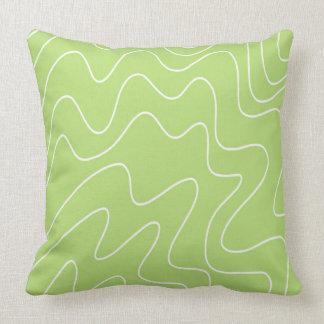 Almofada Teste padrão verde do abstrato do design do