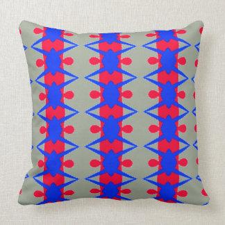 Almofada Teste padrão vermelho e azul lunático no