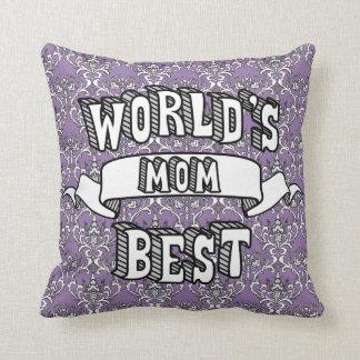 Almofada Texto da tipografia da mamã do mundo travesseiro