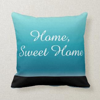 Almofada Texto Home doce Home dos azuis marinhos e do preto
