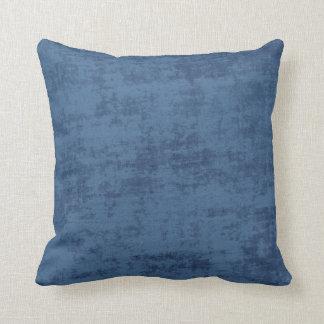 Almofada Textura azul escuro do tecido de Chenille