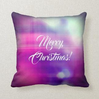 Almofada Textura colorida do design do Feliz Natal
