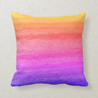 Almofada Textura de madeira colorido
