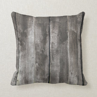 Almofada Textura de madeira Pilllow do Grunge velho