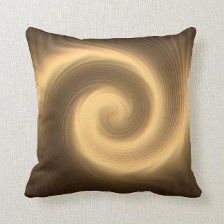 Almofada Textura espiral dourada