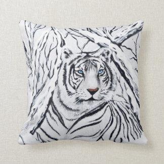 Almofada Tigre branco que mistura-se dentro