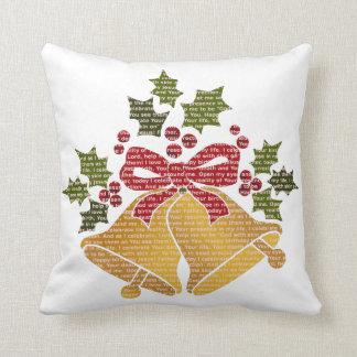 Almofada Tinir Bels e azevinho para a oração do Natal do