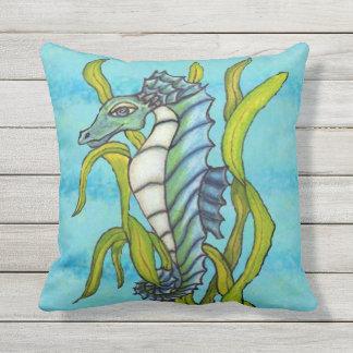 Almofada Tipo azul cavalo marinho do dragão do Aqua bonito