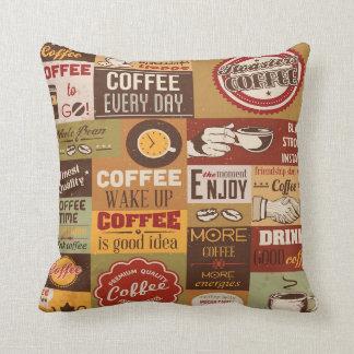 Almofada Tipografia do café