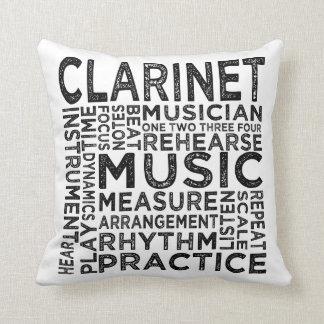 Almofada Tipografia do clarinete