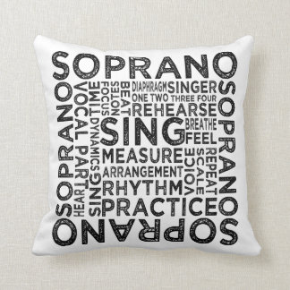 Almofada Tipografia do soprano