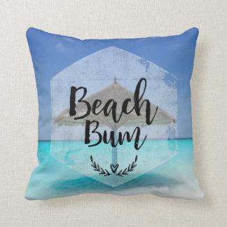 Almofada Tipografia do vagabundo da praia - guarda-chuva na