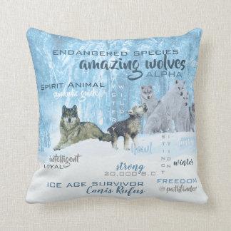 Almofada Tipografia surpreendente   dos lobos personalizado