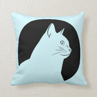 Almofada Tiragem do gato preto amba lado