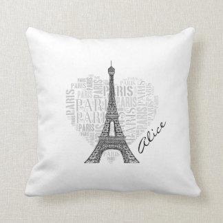 Almofada Torre Eiffel adorável de Paris   do amor