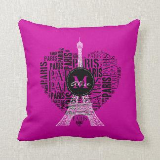Almofada Torre Eiffel adorável de Paris | do amor