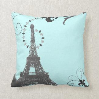 Almofada torre Eiffel francesa chique feminino de Paris do