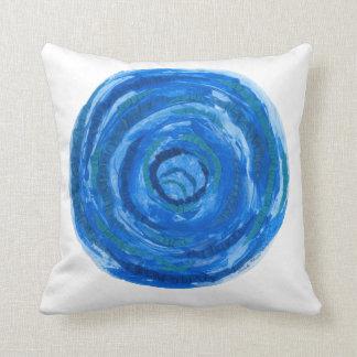 Almofada trabalhos de arte azuis #2 de 5th-Throat Chakra