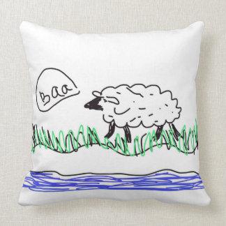 Almofada Trabalhos de arte do design dos carneiros do Baa