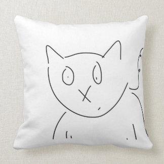 Almofada Trabalhos de arte felinos do gato curioso