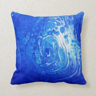 Almofada Trabalhos de arte fluidos azuis