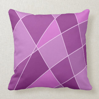 Almofada Trabalhos de arte roxos do design dos quadrados