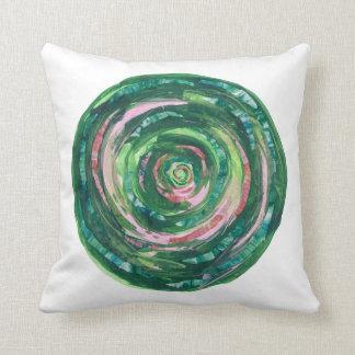 Almofada trabalhos de arte Verde-Cor-de-rosa #1 de
