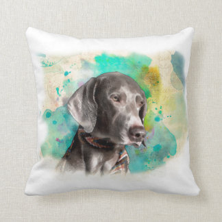 "ALMOFADA TRAVESSEIRO 16"" DO WATERCOLOUR WEIMARANER X16 """