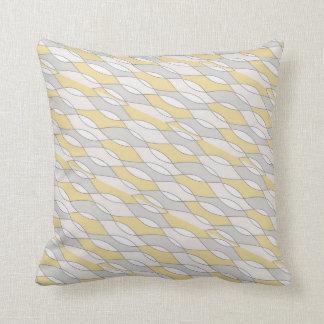 Almofada Travesseiro abstrato temático amarelo & cinzento