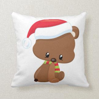 Almofada Travesseiro adorável do Natal do urso do Natal