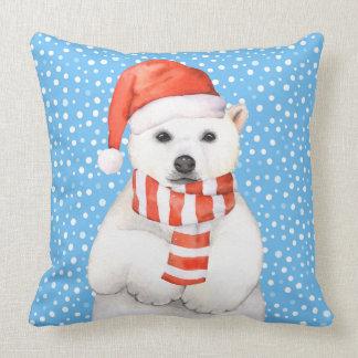 Almofada Travesseiro adorável do urso polar do feriado