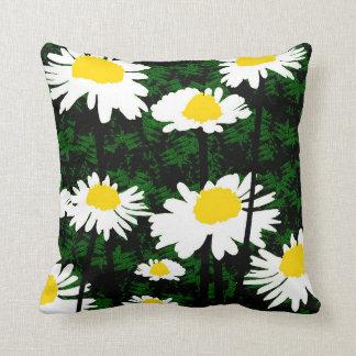 Almofada Travesseiro amarelo branco do verde das flores