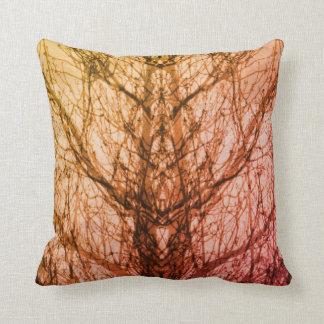 Almofada Travesseiro amarelo cor-de-rosa abstrato da arte