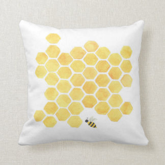 Almofada Travesseiro amarelo da colmeia do favo de mel